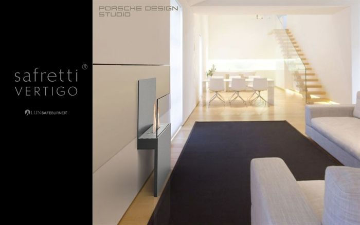 safretti Vertigo: Ethanolkamin by Porsche Design Studio