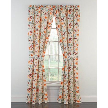The Pioneer Woman Willow Window Curtain Panel 40 W X 84 L Set Of 2 Multiple Sizes Walmart Com Panel Curtains Curtain Styles Curtains