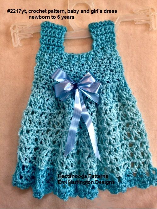 Free Crochet Baby Dress Video And Written Pattern Crochet