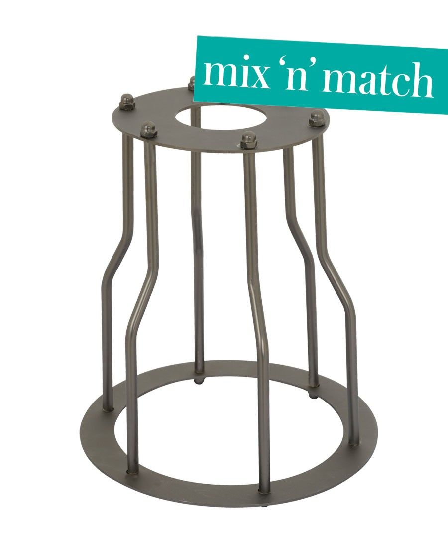 Beacon Lighting - Manor industrial decorative cage in aged steel.