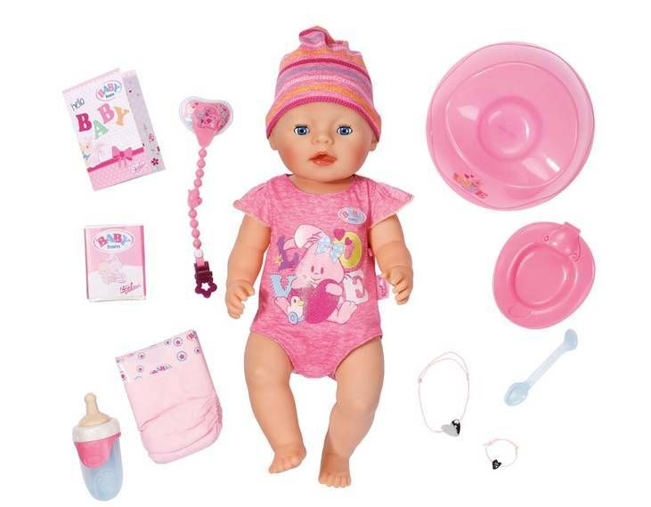 New Baby Born Interactive Talking Moving Crying Wetting Eating