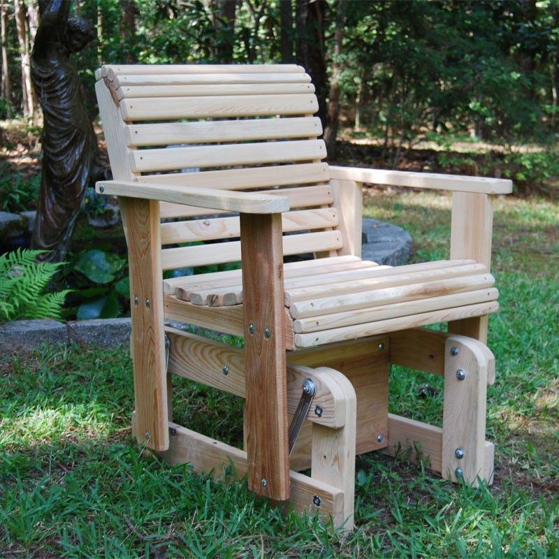 La Swings Roll Single Porch Glider Outdoors And