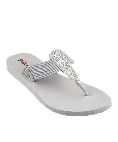 This Silver Mauie Flip-Flop by Pink & Pepper is perfect! #zulilyfinds