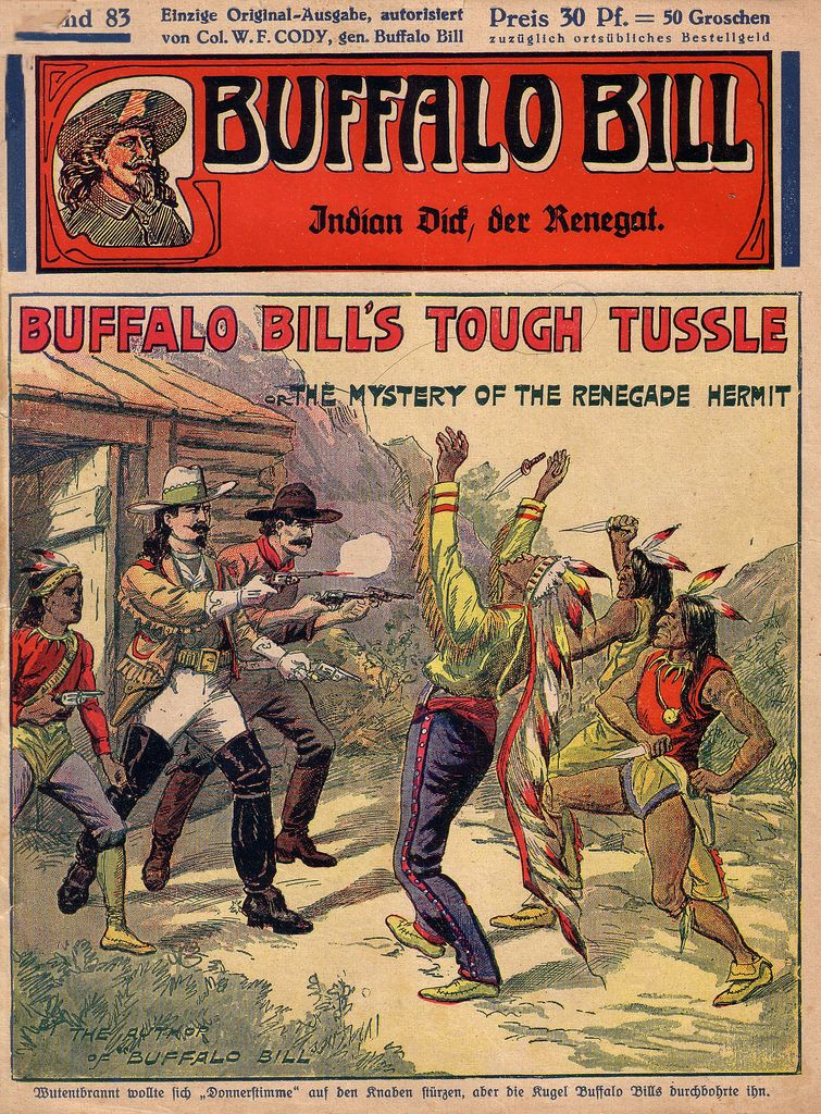 Old West Buffalo Bill  Dime Novel Cover Print Wild West