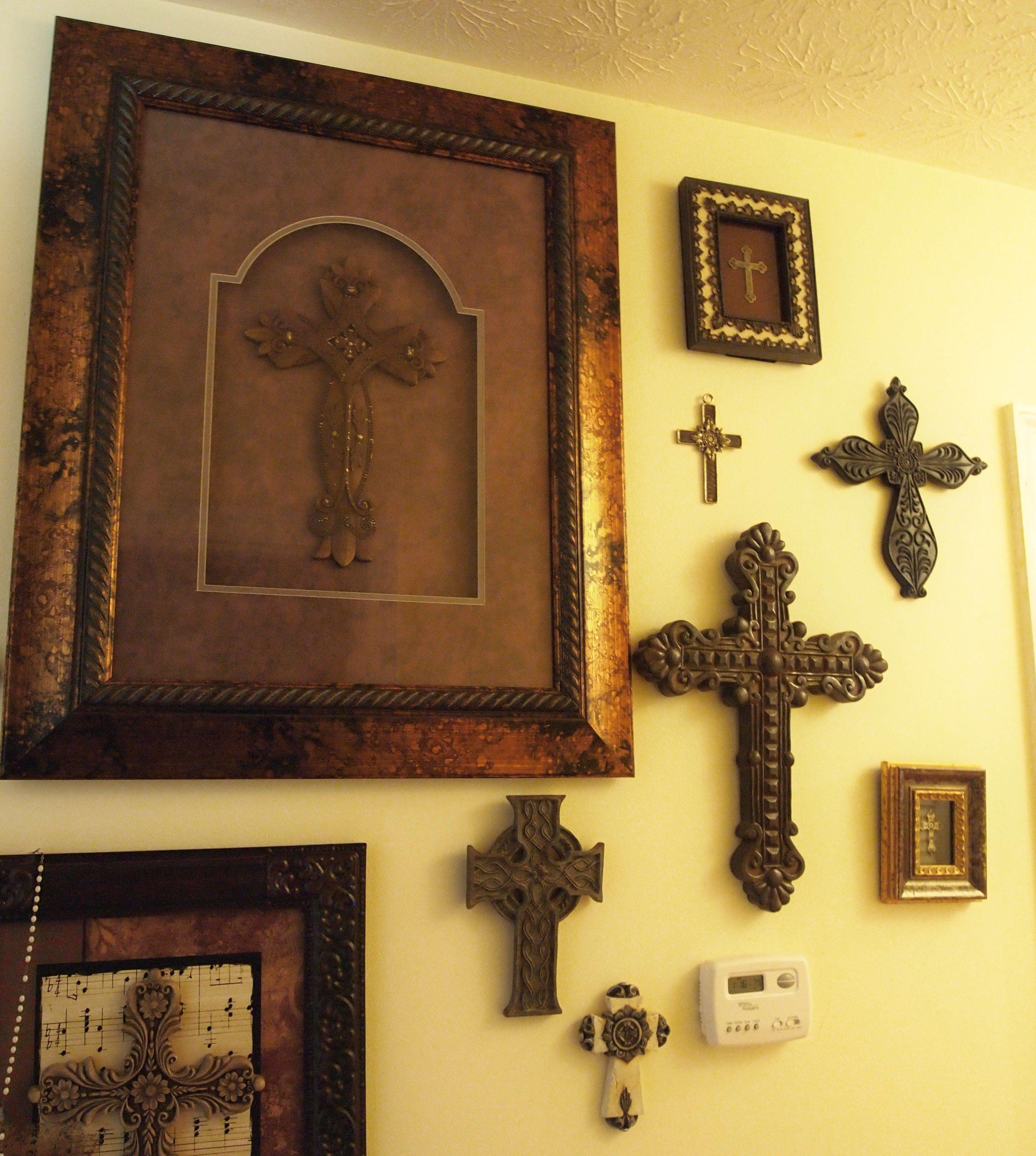 Cross Gallery Wall   Cross walls, Walls and Gallery wall
