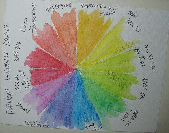 Ink Pencil Color Wheel 1 Color Ink Watercolor Pencils