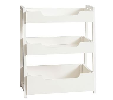 Small Spaces Ladder Bookcase, Simply White | *Furniture > Bookcases ...