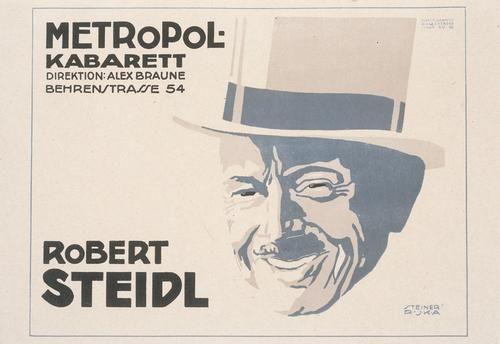 Design 54 Berlin metropol kabarett robert steidl poster 1918 for the metropol
