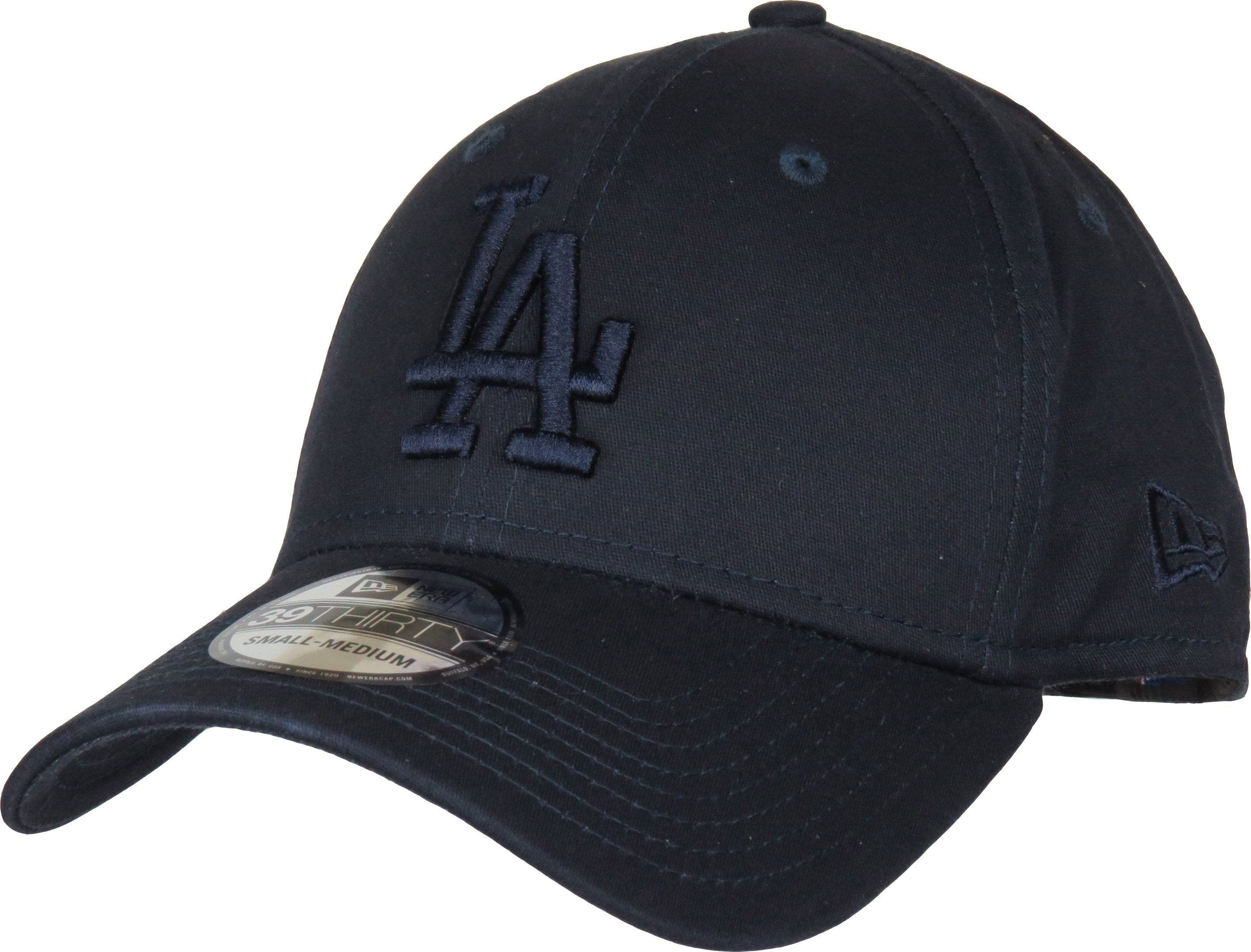 New Era 39Thirty League Essential Baseball Cap. Navy Blue, with the tonal LA Dodgers front logo, and New Era side logo. Stretch fit cap, available in 2 size var