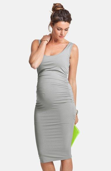 Ellis' Side Ruched Maternity Tank Dress   Style, Return and Ruched