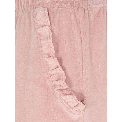 Frill Trim Velour Cuffed Pyjama Bottoms | Women | George