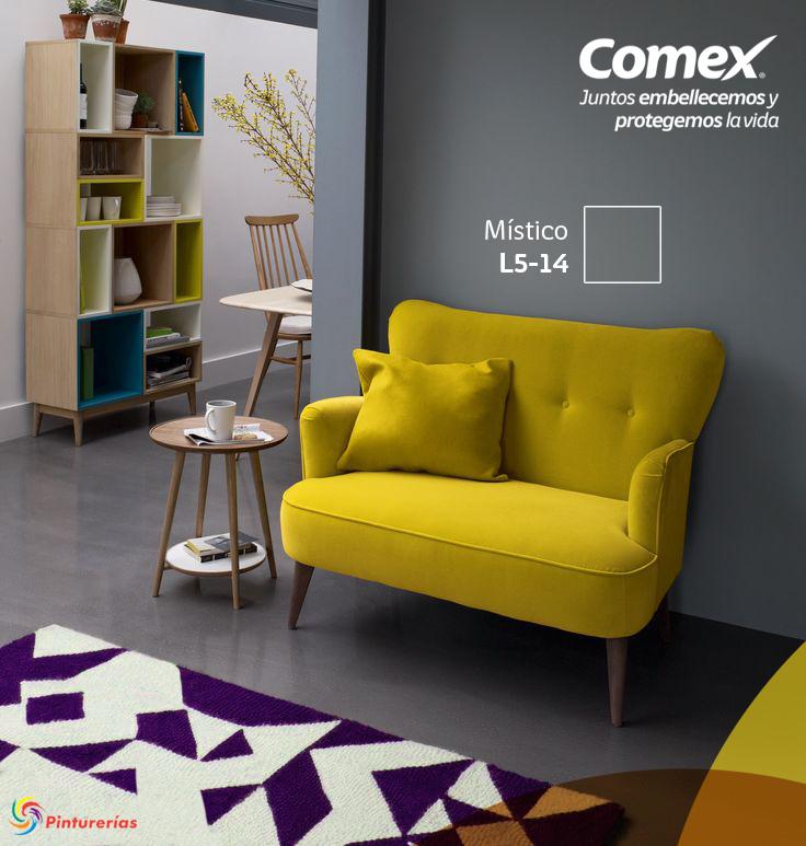 Destaca el color brillante de tus muebles pintando tus - Muebles grises paredes color ...