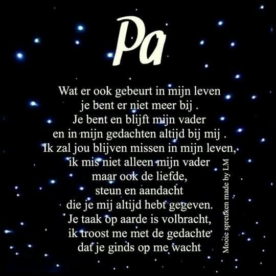 Missen vader gedichten pinterest vader teksten en gedichten - Een ster in mijn cabine ...