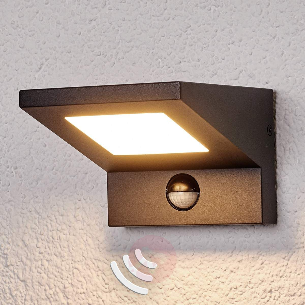 Zewnetrzna Lampa Scienna Led Levvon Z Czujn Ruchu Wall Lights Led Outdoor Wall Lights Led Garage Lights
