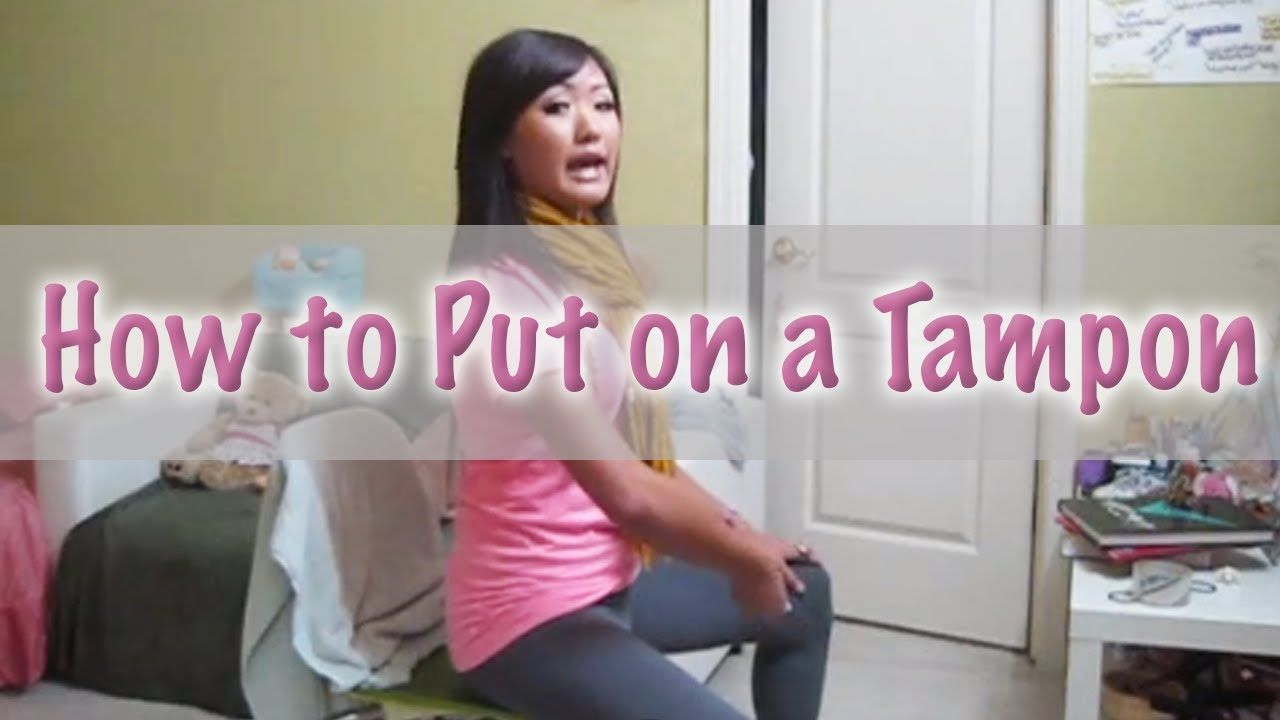 How To Put On A Tampon Tampons, Tampon insertion