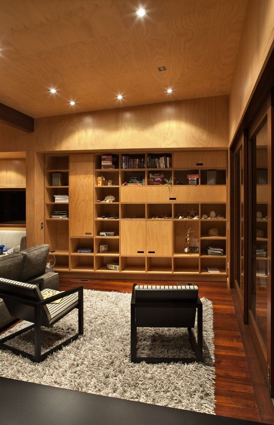 wall o' shelves and cubbies   Wooden bookcase, Living room ...