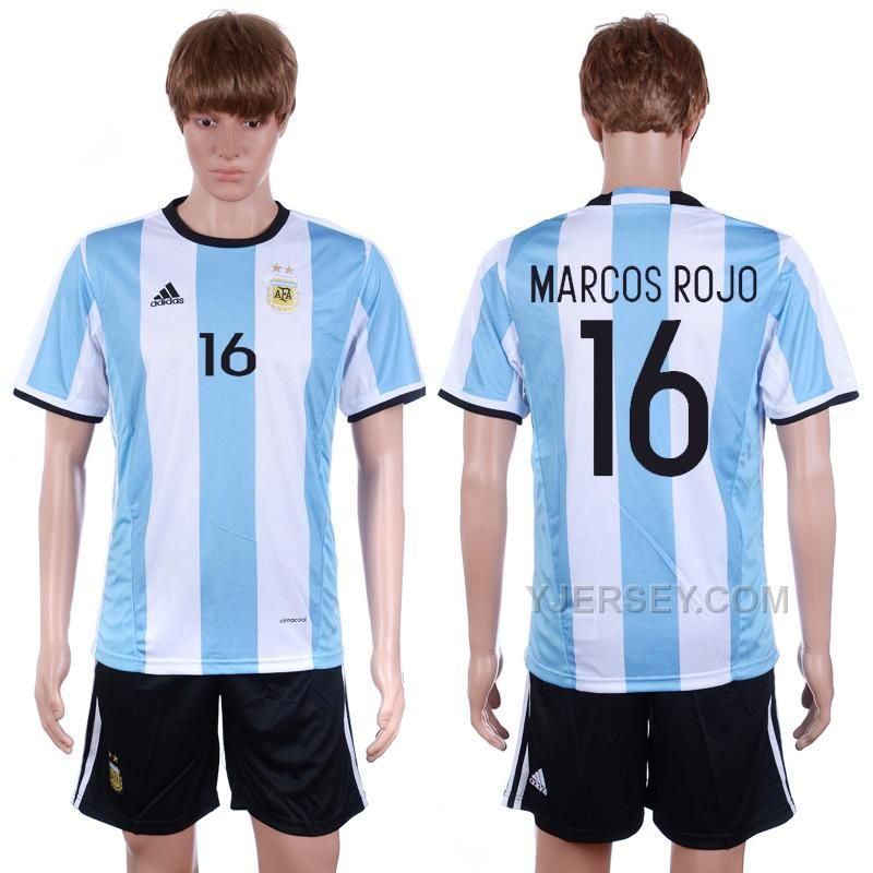 http://www.yjersey.com/argentina-16-marcos-rojo-home-2016-copa-america-centenario-soccer-jersey.html ARGENTINA 16 MARCOS ROJO HOME #2016 COPA AMERICA CENTENARIO SOCCER JERSEYOnly$35.00  Free Shipping!