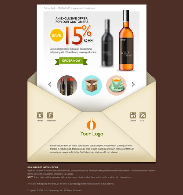 Cool Email Newsletter Templates  For Free   Template Email