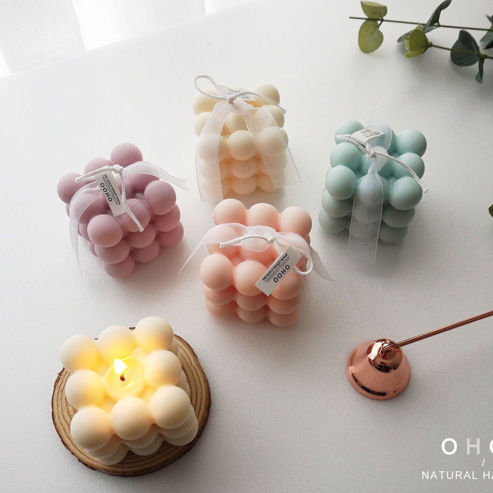 Scented candle cube candle soy candle