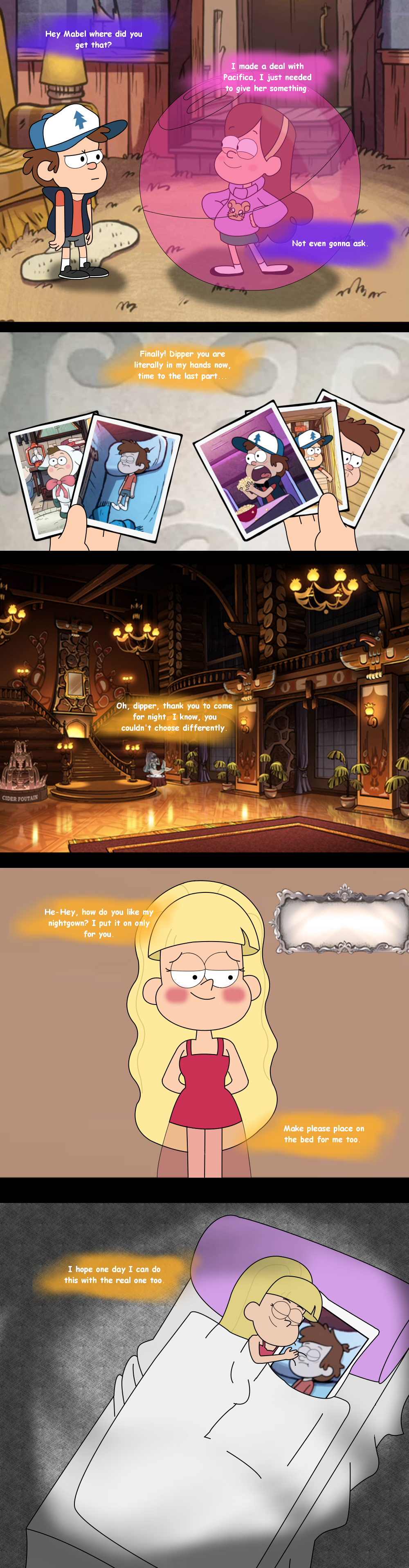 Pacifica's plan by rikoudu on DeviantArt<<<she wants senpai to notice her