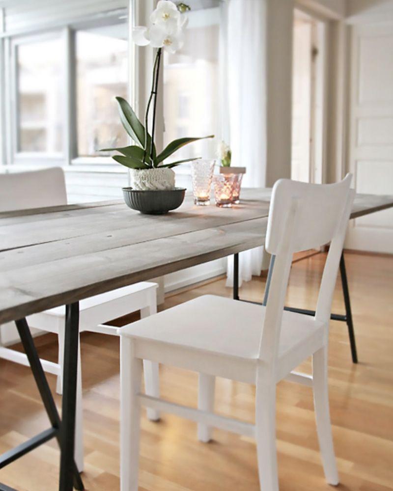 table salle a manger diy treteaux