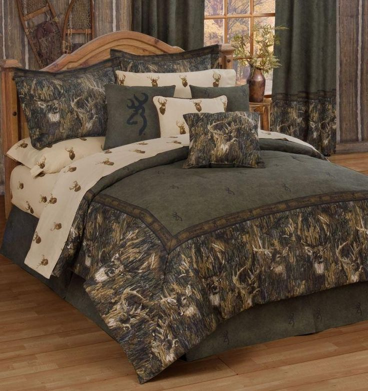 Browning R Whitetails Deer Camo Comforter Bedding Comforter Sets Full Comforter Sets Rustic Bedding