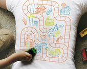 L, Car Play Mat Shirt, Dad Gift from Kids, Fathers Day Gift for Dad, Car Track Shirt, Road Map Shirt, Father Son Shirt, Daddy Gift From Son
