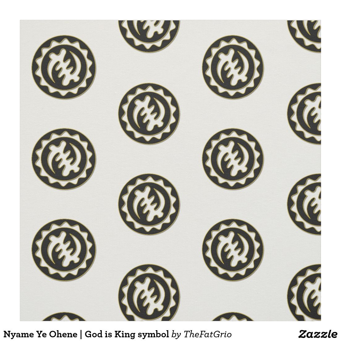 Nyame ye ohene god is king symbol fabric adinkra symbols adinkra symbol meaning god is king visit the fat grio store for more items related to the symbol and more adinkra symbols and their meaning biocorpaavc Images