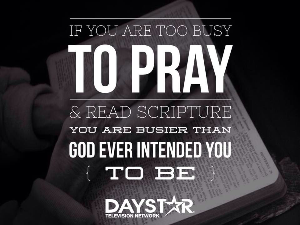 Don't be too busy for God