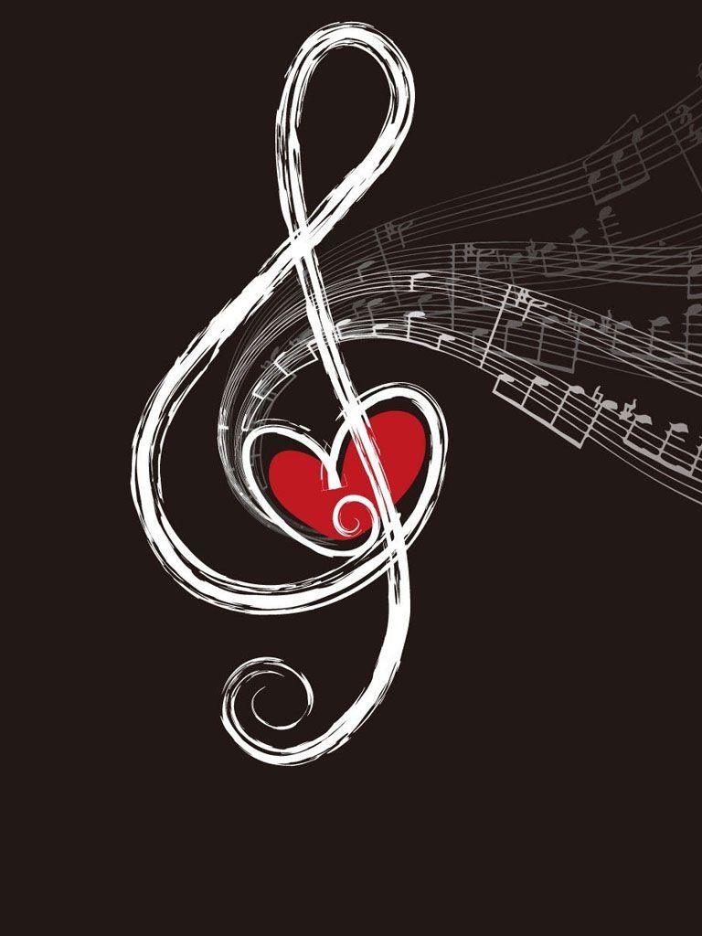 Treble Clef Heart | Music | Pinterest