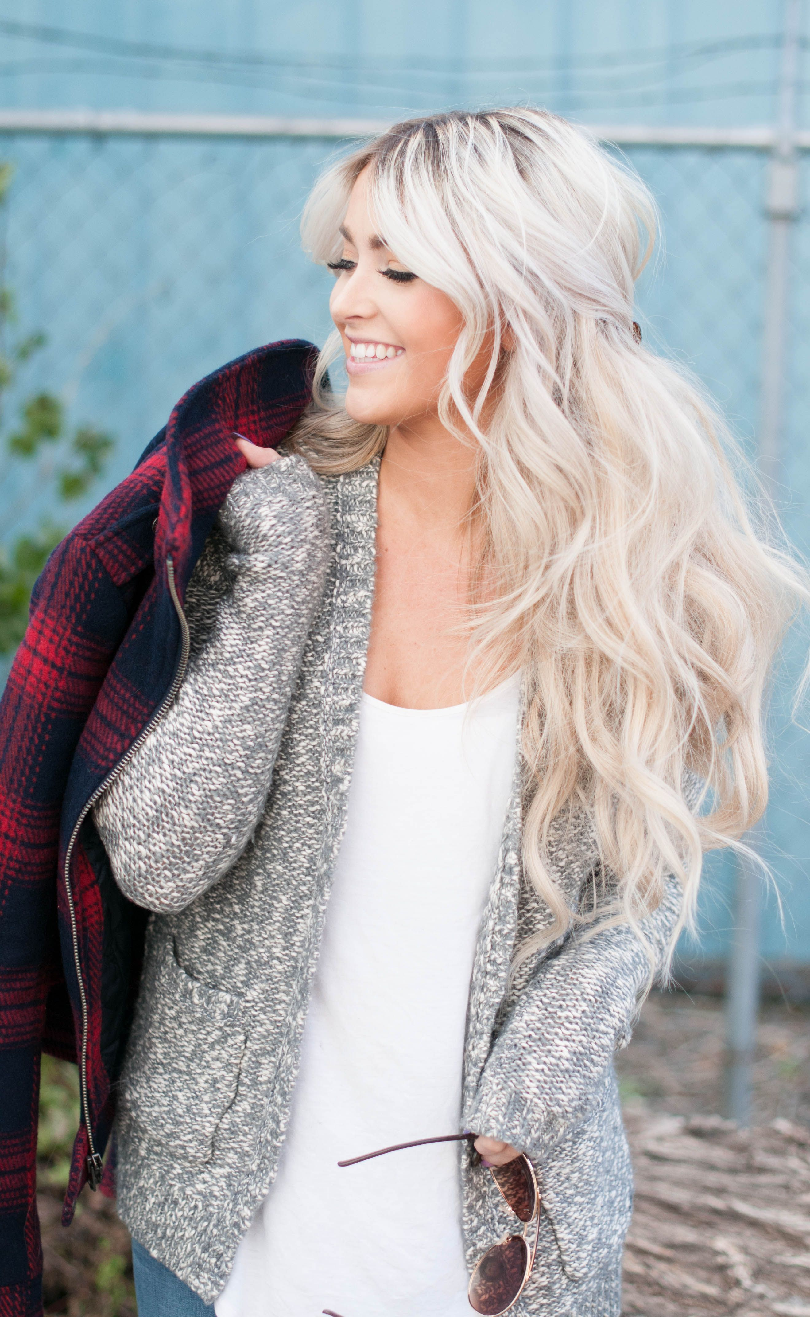 keep it cozy - messy half up hairstyle - long hair - blond ...