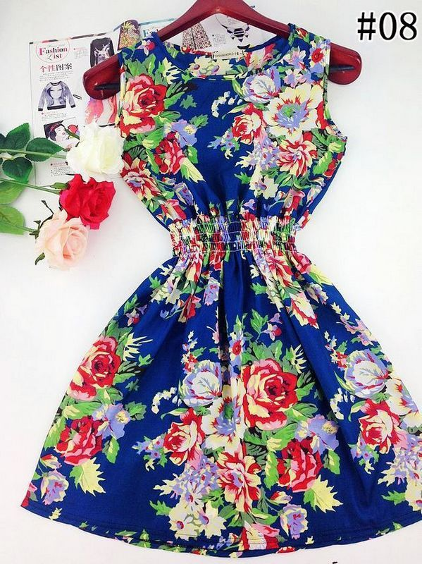 2015 spring summer autumn new Korean Women casual Bohemian floral leopard sleeveless vest printed beach chiffon dress WC0344-in Dresses from Women's Clothing & Accessories on Aliexpress.com | Alibaba Group
