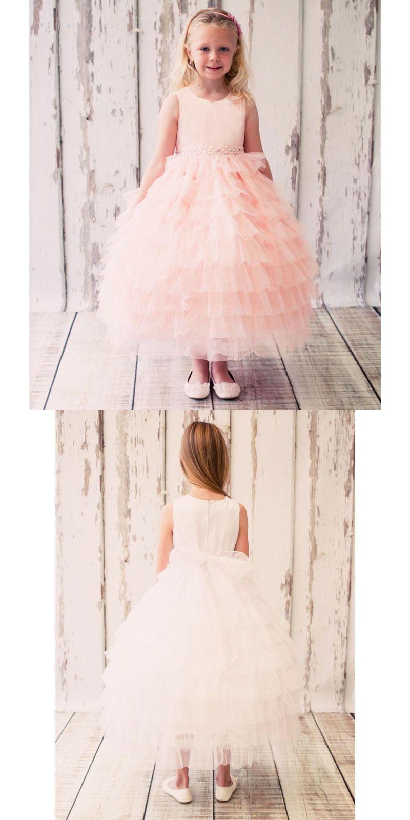 Girls formal occasion flower girl princess dress birthday