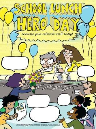 Adorn your cafeteria walls with this School Lunch Hero Day ...
