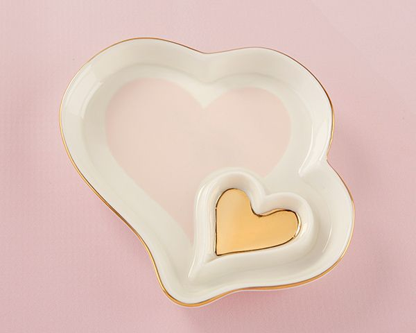 Double Heart Trinket Dish | Homemade wedding favors ...