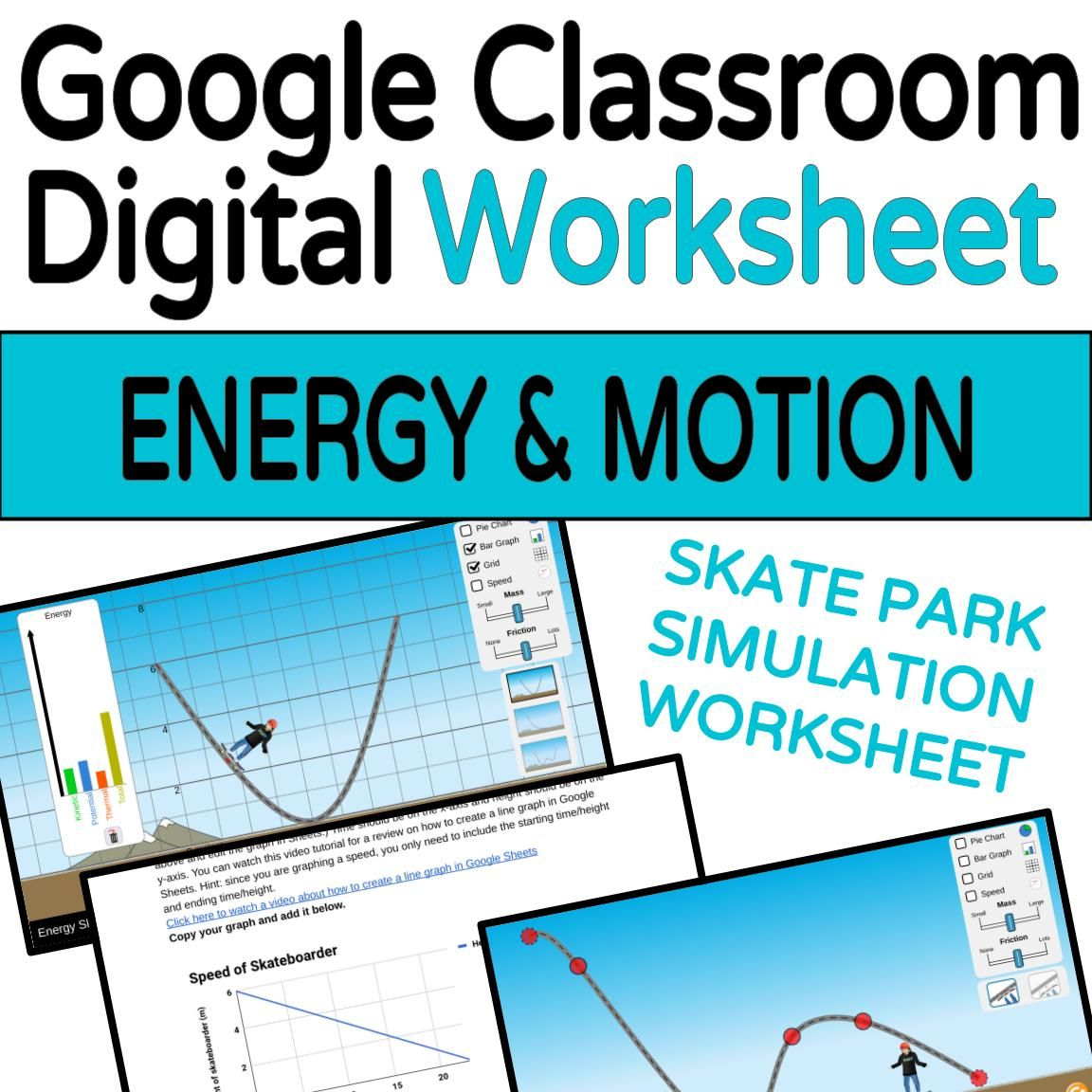 Energy And Forces Skate Park Simulation Companion