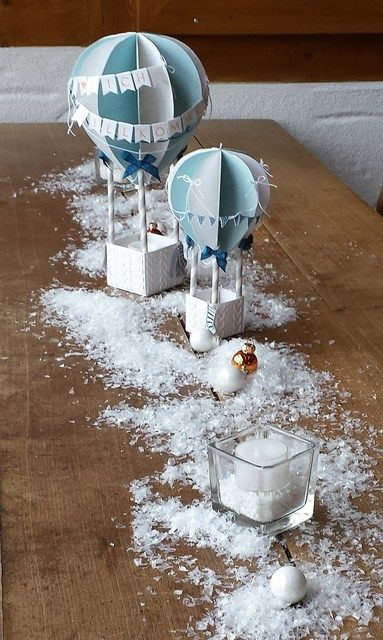 Ballons Tischdeko Winter Scraphexe De Kreativ Pinterest