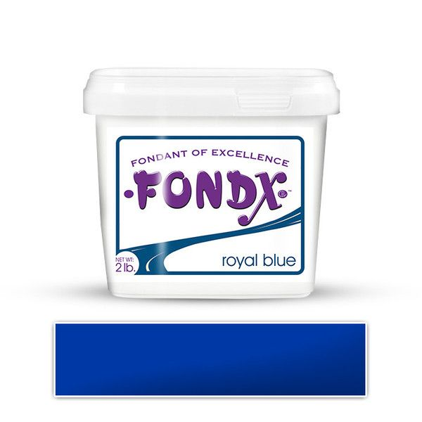 FondX Royal Blue Rolled Fondant Icing perfect for cake decorating