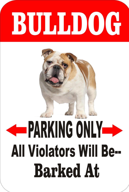 Bulldog Sign Yard Sign Dog Sign Pet Sign Metal Sign