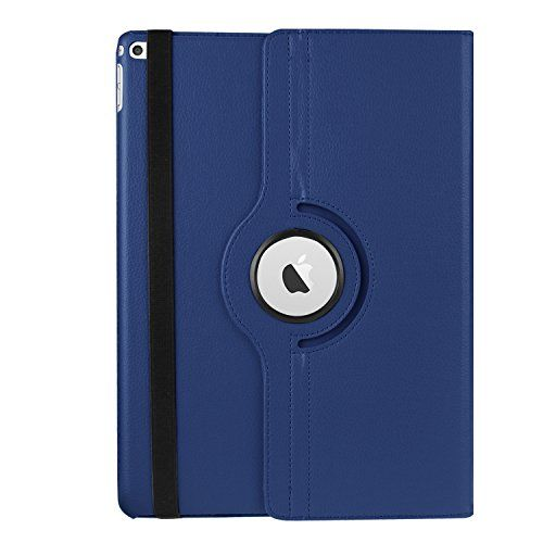 iPad Pro Case 12.9 inch, WITCASE Luxury 360 Degree Rotating Stand Series Defender Cover Case With Smart Cover Auto Sleep / Wake Feature for Apple iPad Pro (Dark Blue) -- You can find more details by visiting the image link.