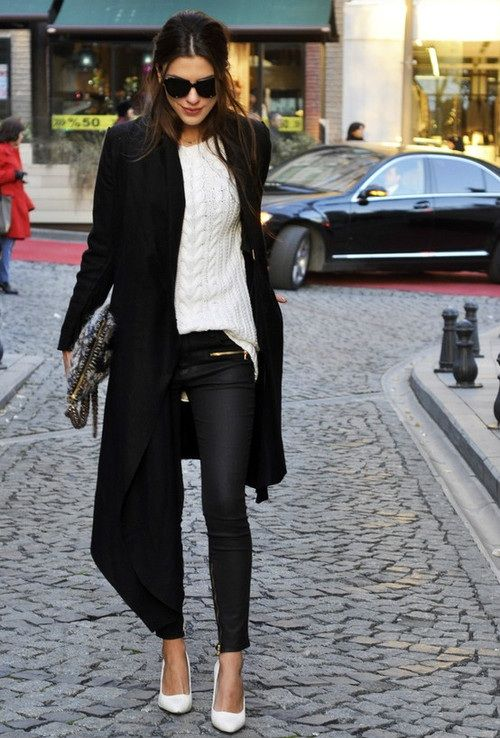 #white#girl#fashion#winter#sexy#casual#cool#style#black