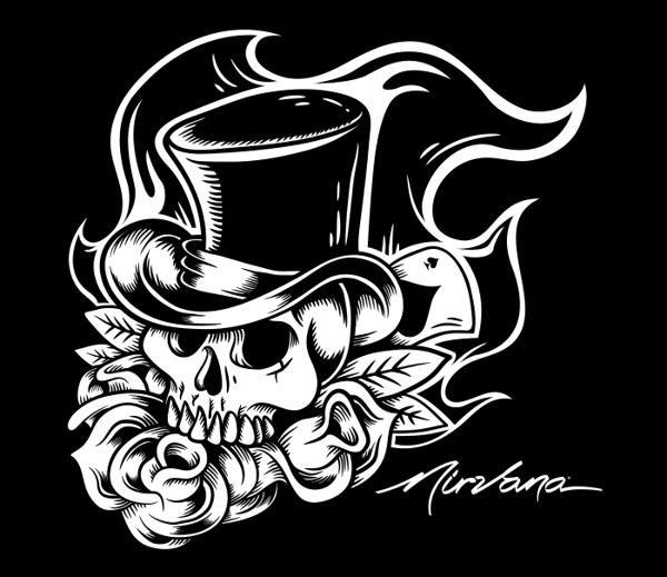 Nirvana Skull by Johnny Terror, via Behance