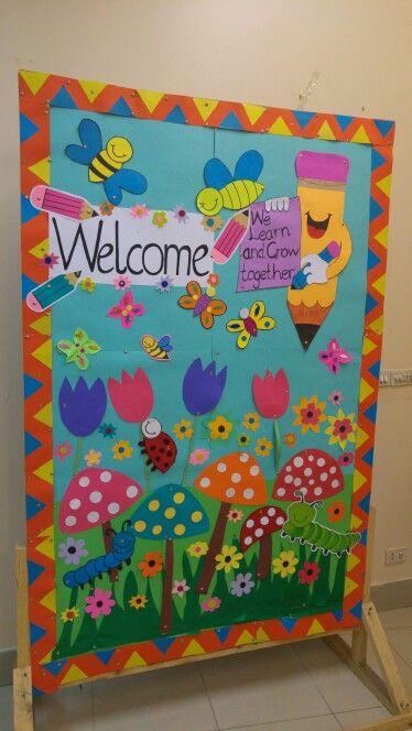 Welcome Board School Board Decoration Soft Board