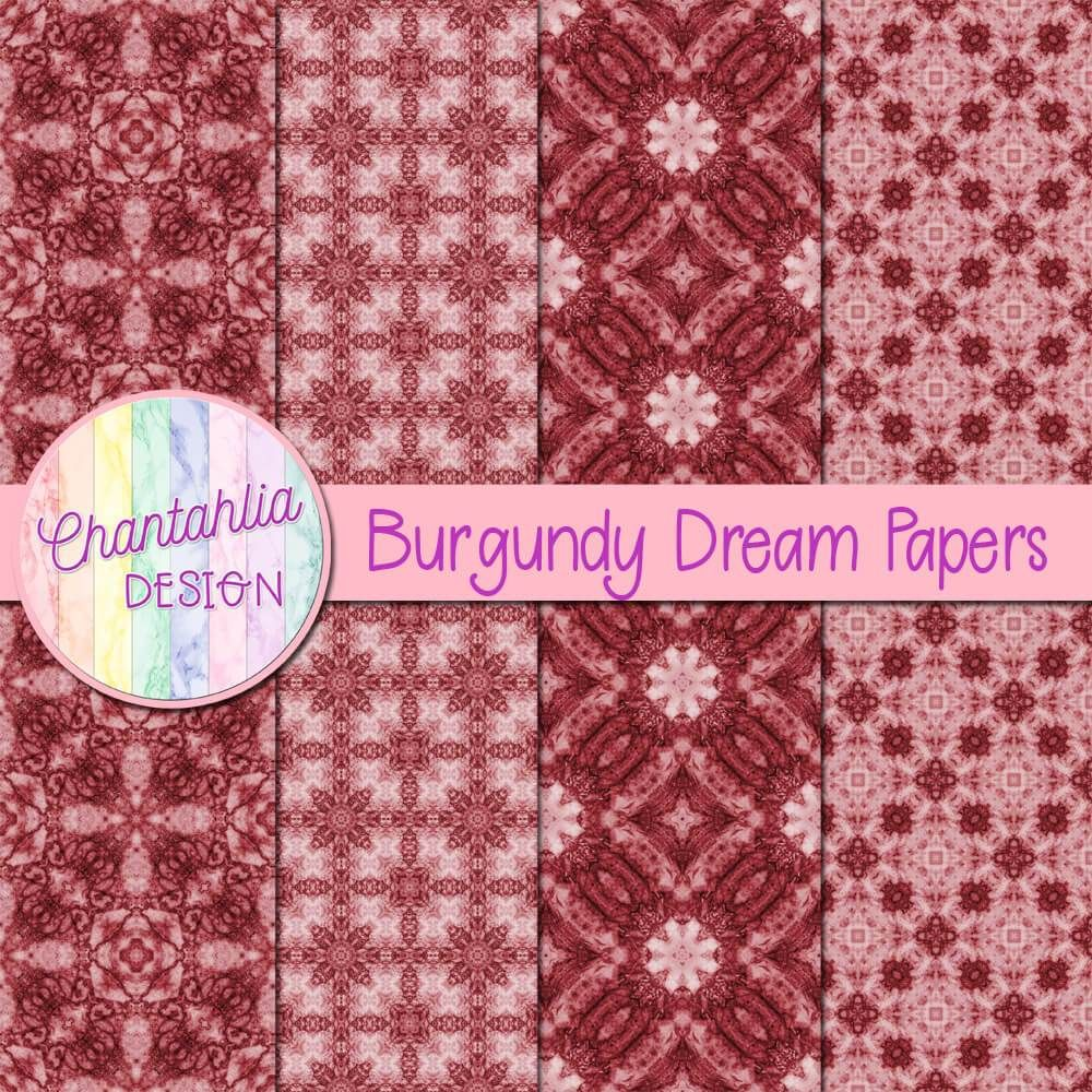 Free Digital Papers In Burgundy Designs 12 X 12in 300 Dpi Instant Download Use The Pap With Images Free Digital Scrapbooking Paper Digital Paper Digital Scrapbook Paper