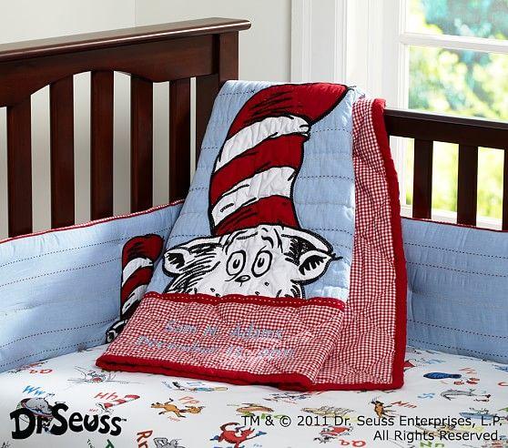 Dr Seuss Cat In The Hat Nursery Bedding Pottery Barn Kids