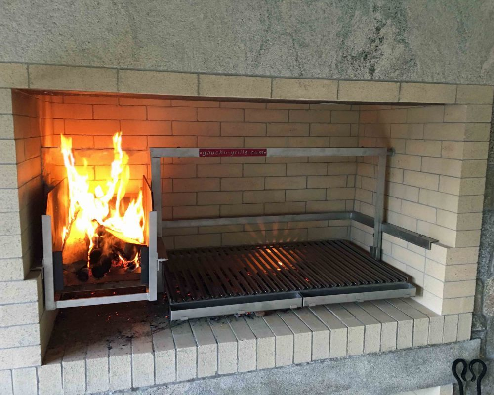Gaucho Grills Insert Into A Chimney Top Enclosed Base Bbq Grill Design Kitchen Fireplace Grill Design