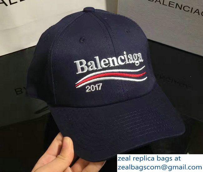 innovative design classic styles official supplier Balenciaga 2017 Logo Baseball Cap/Hat Blue | Baseball ...