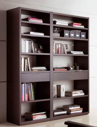 Como hacer un librero muebles melamine muebles - Libreros de madera modernos ...