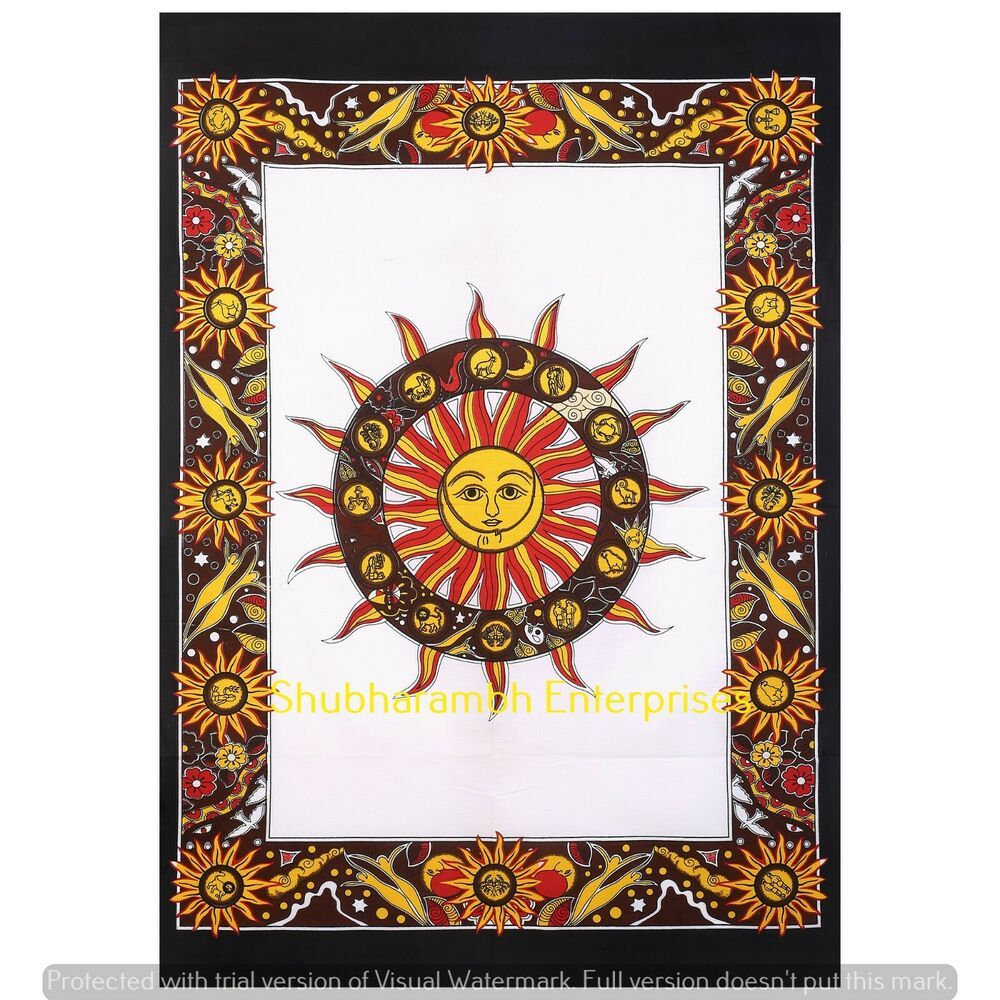 Cycle Of The Age Wall Art Ethnic Hippie Bohemian Wall Decor Wall Tapestry Ethnic