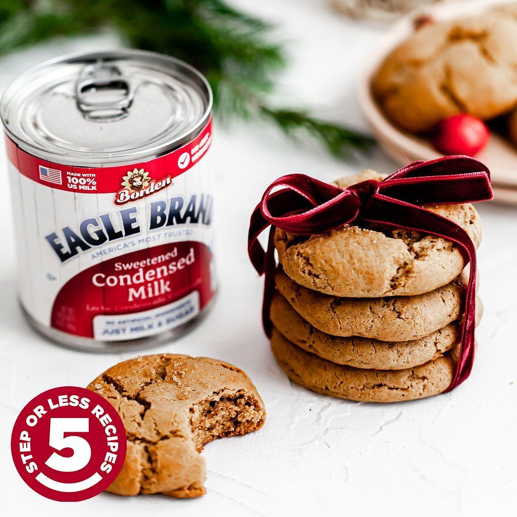 Eagle Brand On Instagram 5 Step Ginger Molasses Cookies We Love Soft Chewy Ginger Mo Ginger Molasses Cookies Gingerbread Recipe Cookies Recipes Christmas